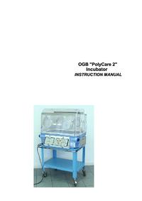User Manual Ginevri OGB Polycare 2