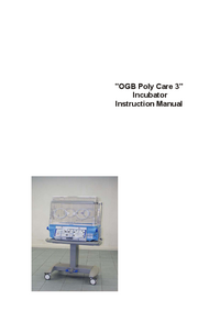 Bedienungsanleitung Ginevri OGB Polycare 3