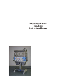 User Manual Ginevri OGB Polycare 4