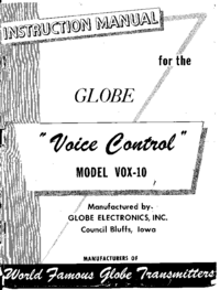 Serwis i User Manual Globe Voice Control VOX-10
