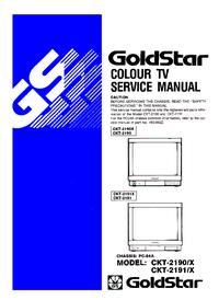 Instrukcja serwisowa Goldstar CKT-2190 X