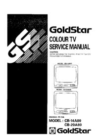 Service Manual Goldstar CB-14A80