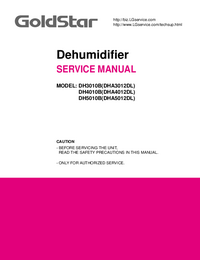 Manual de servicio Goldstar DH5010B(DHA5012DL)