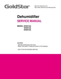 Manuale di servizio Goldstar DH5010A
