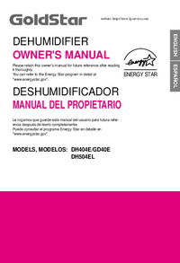 User Manual Goldstar DH404E