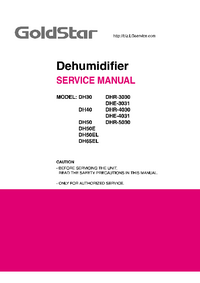 Manual de servicio Goldstar DHR-3030