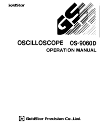 Service and User Manual Goldstar OS-9060D