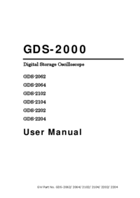 Manual del usuario GoodWill GDS-2104