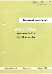 Instrukcja obsługi Gossen T4 33 4