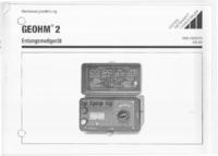 User Manual GossenMetrawatt Geohm 2