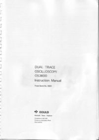 Service and User Manual Gould OS3600
