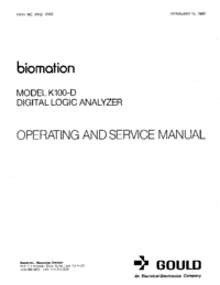 Service and User Manual Gould K100-D