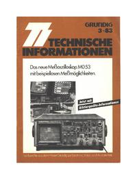 Manual de servicio Grundig MO 53
