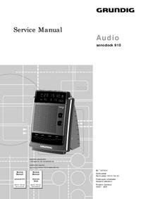manuel de réparation Grundig Sonoclock 910