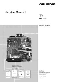 Service Manual Supplement Grundig ST 55-798 text