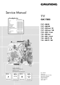 Manuale di servizio Supplemento Grundig P 37 – 830 text / GB