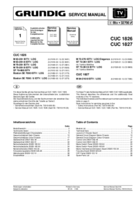 Service Manual Supplement Grundig M 63-281/8 IDTV / LOG