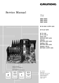 Service Manual Supplement Grundig M 72-100/8