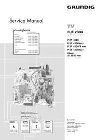 Manuale di servizio Supplemento Grundig P 37 – 830 text