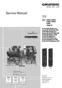 Service Manual Grundig M 70-269/9Reference