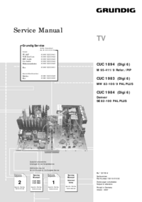 Service Manual Supplement Grundig M 95-411/9 Refer./PIP