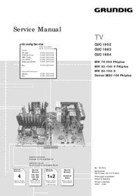 Service Manual Supplement Grundig MW 82-100/9 PALplus