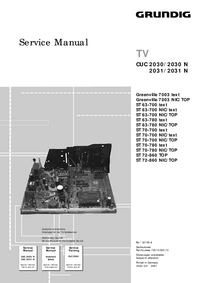 Service Manual Grundig ST 63-700 NIC/TOP