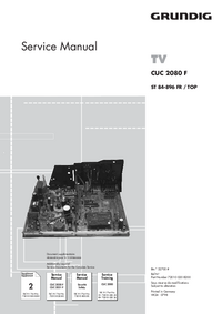 Service Manual Supplement Grundig CUC 2080 F