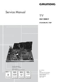 Supplément manuel de réparation Grundig CUC 2080 F