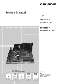 Service Manual Supplement Grundig CUC 2059 F