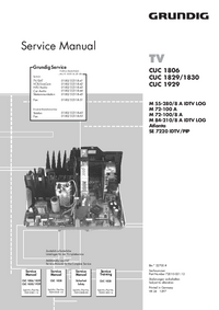 Service Manual Supplement Grundig Atlanta SE 7220 IDTV/PIP