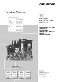 Руководство по техническому обслуживанию дополнения Grundig CUC 1829/1830