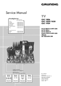 Service Manual Supplement Grundig M 72-100 A