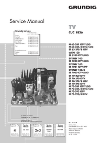 Service Manual Supplement Grundig SYDNEY 100/8 SE 7020 IDTV/LOG