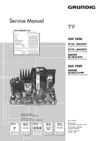 Service Manual Supplement Grundig ST 70 – 869 IDTV