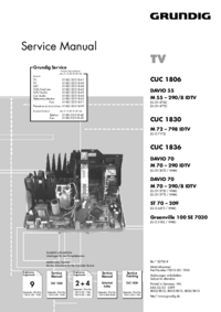 Service Manual Supplement Grundig DAVIO 55 M 55 – 290/8 IDTV