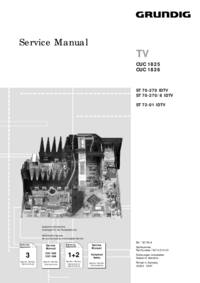 Service Manual Supplement Grundig Chassis CUC 1826