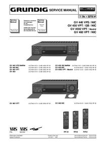 manuel de réparation Grundig GV 460 NIC