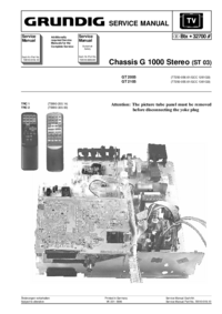 Service Manual Grundig GT 2105