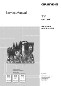 Manuale di servizio Grundig Chassis CUC 1828