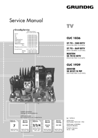 Service Manual Supplement Grundig Chassis CUC 1836