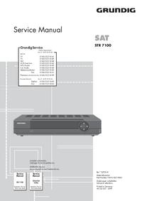 Manuale di servizio Grundig STR 7100