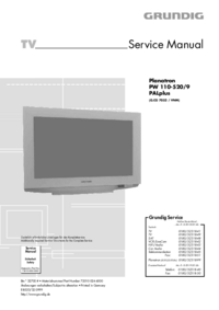 Manual de serviço Grundig Planatron PW 110-520/9 PALplus