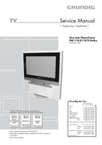 Serviceanleitung Grundig Fine Arts PlanaVision PW 110-8110/9 Dolby