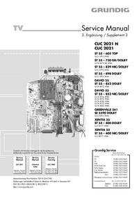 Service Manual Grundig ST 55 – 605 TOP