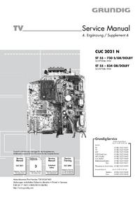 Serviceanleitung Grundig ST 55 – 834 GB/DOLBY