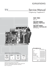 Manual de serviço Grundig FINE ARTS VISION MFW 82 – 720/9 DVD