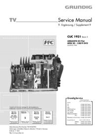 Manual de servicio Grundig ARGANTO 82 Flat MFW 82 – 530/9 DVD