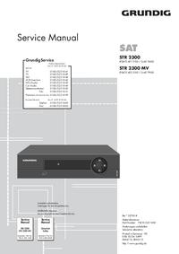 Manuale di servizio Grundig STR 2300 MV