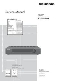 Manual de serviço Grundig STR 7122 TWIN